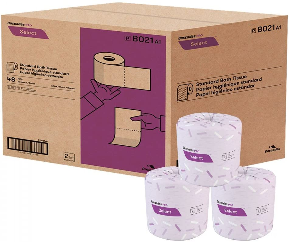 Cascades PRO Select 2-Ply Standard Bathroom Tissue Rolls - 48 Rolls