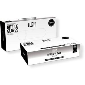 Medium Non-Medical Nitrile Gloves - Black - Bluzen Premium - Pack Of 100