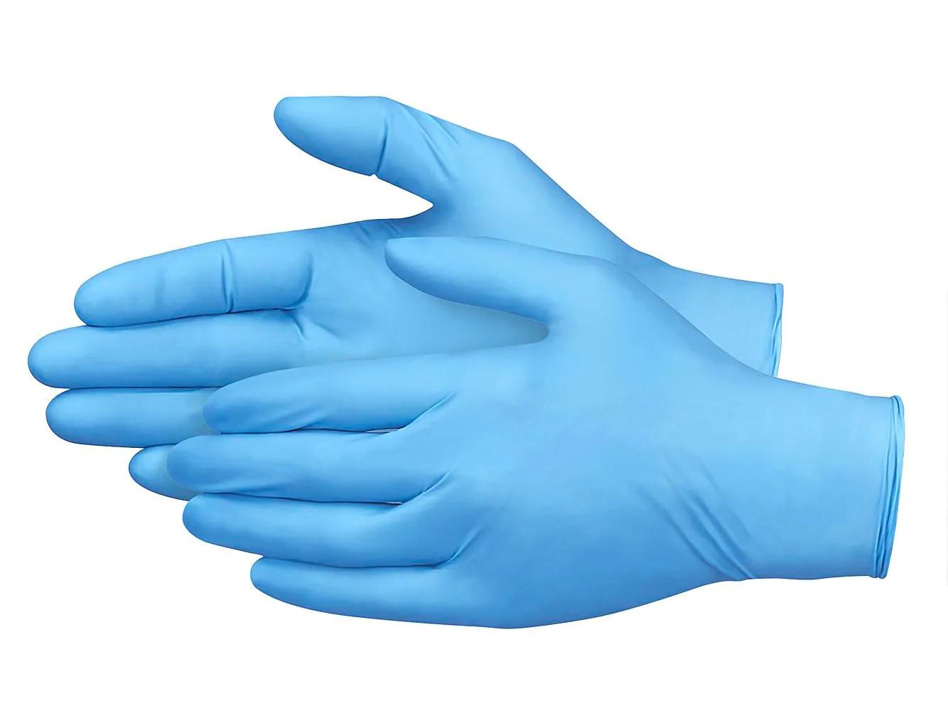 Large Non-Medical Nitrile Gloves - Blue - Pack of 100