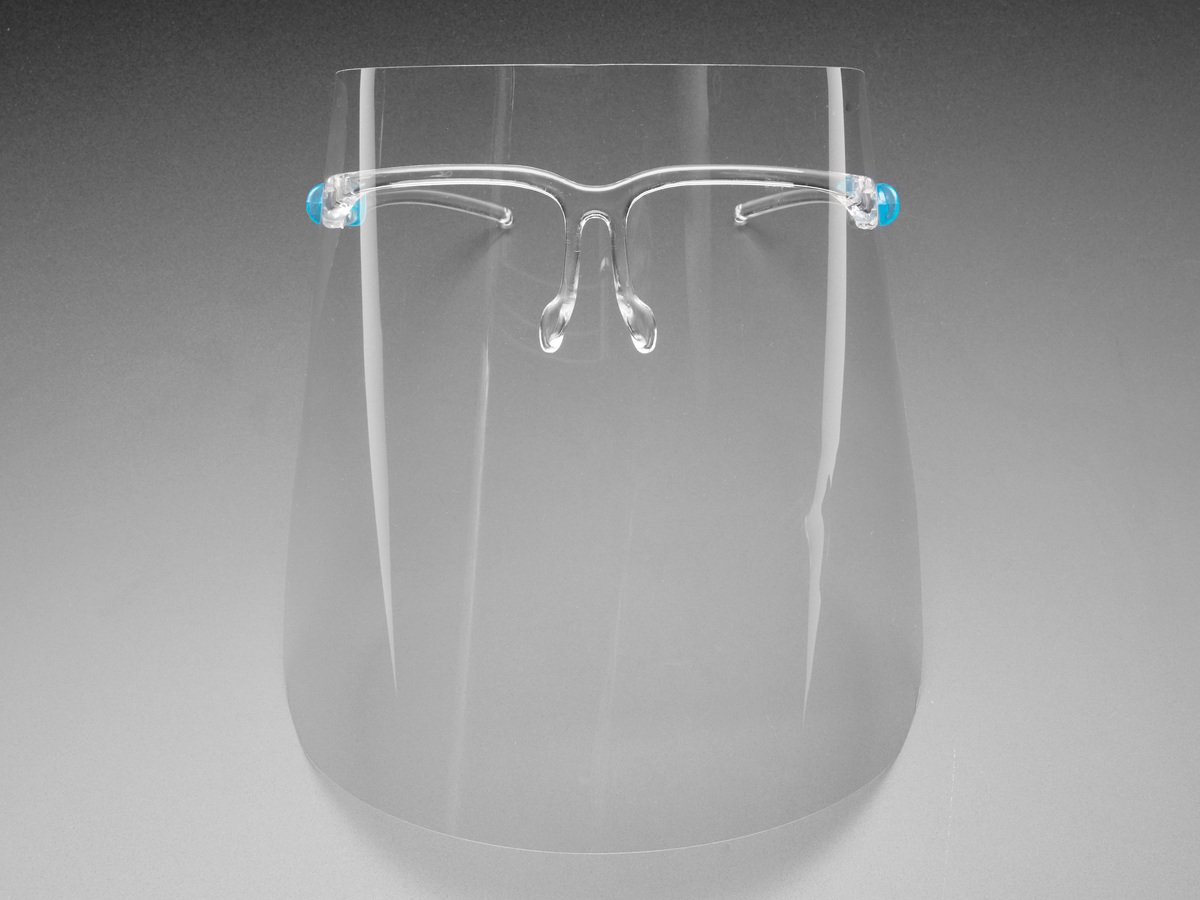 Disposable Face Shield With Plastic Glass Frame Attachment - Each